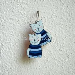 Smaltované náušnice kočičky  |