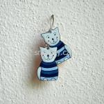 Smaltované náušnice kočičky